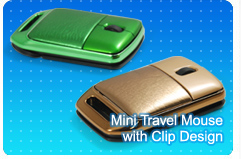Mini Travel Mouse with Clip Design