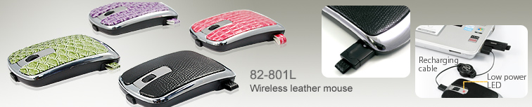 82-801L,Wireless leather mouse